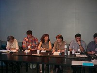 Učesnici medijskog panela: Željko Bodražić, Snježana Milivojević, Gordana Suša, Veran Matić
