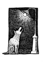 """Ilustracija Koste Milovanovića za knjigu """"Fanatik"""" koja se nekim čudom nije našla u knjizi."""