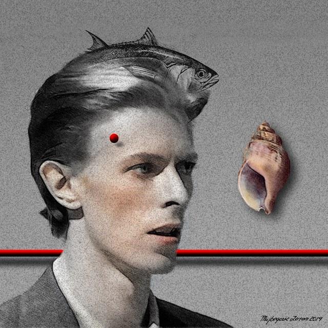 David Bowie - slika Zorana Mujbegovića
